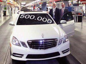 Мерседес-Бенц выпустил 500 000-ый автомобиль Е-Класса