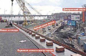 Во вторник в Киеве откроют свежую эстакаду, однако утром она будет перекрыта