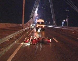 В Киеве в процессе ливня погиб велосипедист