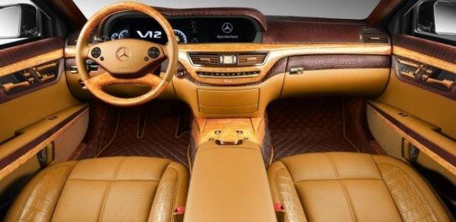 Русские забавы: тюнинг салона бронированного Mercedes S600 Guard