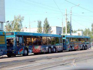 До конца 2012 года Киев обретет еще 100 автобусов и троллейбусов