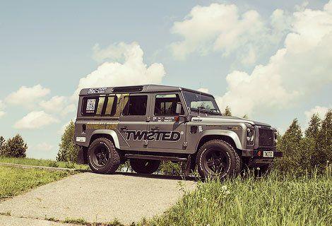 Дефендер с V8 от компании Twisted. Фото twistedperformance.co.uk