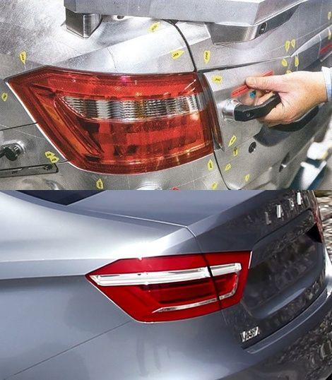Фотографии серийной оптики седана Lada Vesta
