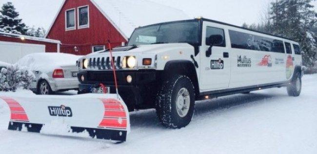 Такого ты еще не видел: лимузин-снегоуборщик на базе Хаммера