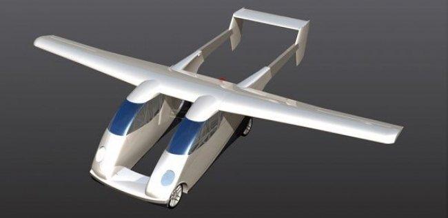 Немцы представили летающий автомобиль с двойным фюзеляжем