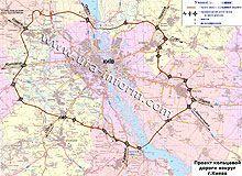Где будет проходить новая обходная автодорога вокруг Киева. Диаграмма
