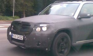 Мерседес-Бенц GLK 2009 захватили на автотрассе