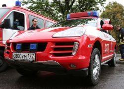 Порше презентовал Москве пожарную автомашину
