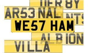Футбольные номерные знаки стоят дешевле авто