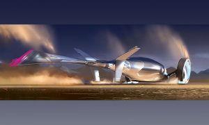 Фольксваген спроектировал проект двухколесного самолетомобиля