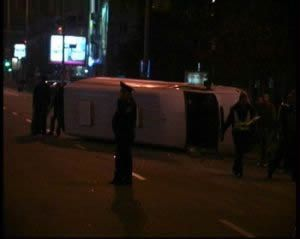 За 2 дня в Запорожье перевернулись 2 маршрутки набитые людьми