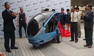 В КНР придумали городской электроскутер