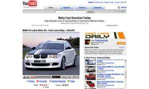 БМВ начала помещать рекламу на YouTube