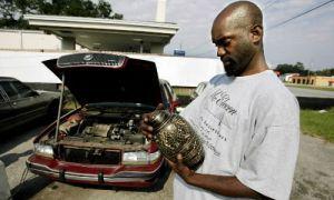 При реализации за рулем автомобиля позабыли урну с прахом