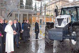 Архиепископу презентовали трактор