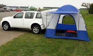 Организация Ниссан сделала палатку для обладателей кроссоверов