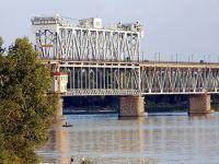 В Кременчуге, после перестройки, раскрыт мост через Днепр