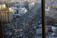Посчитана протяженность наибольшей пробки в городе Москва