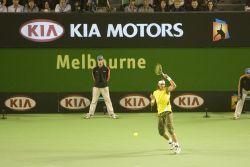 Киа Моторс покоряет сердца почитателей Огромного шлема на Открытом Первенстве Австралии по теннису 2008 года.
