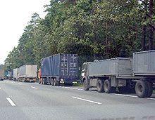 Временным грузовым автомобилям запретят въежать в Киев