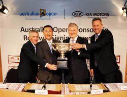Киа Моторс выступит основным спонсором Открытого первенства Австралии до 2013 года