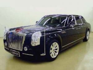 Hongqi HQE - Rolls-Royce вычурно