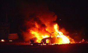2 молодого человека сожгли прошлой в ночное время 14 автомашин в Бутово