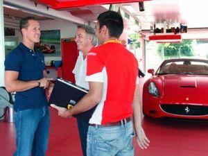 Михаэль Шумахер завершит испытания Феррари Калифорния