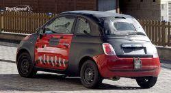 Разведывательные фото нового автомобиля с откидным верхом Фиат 500!
