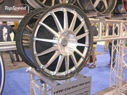 Показаны первые во всем мире диски колес из углепластика от HRE!
