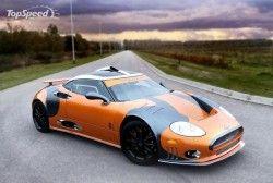 Показана урезанная модификация суперкара Spyker C8 Laviolette LM85