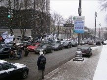 Вчера в Киеве проходит акция протеста против увеличения автотранспортного сбора