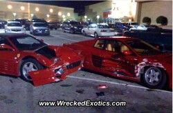 Катастрофа: Феррари Тестаросса и Феррари 348