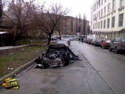 В Украине «поджарили» Шевроле Корветт