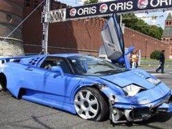В городе Москва в процессе авто-шоу разделили Bugatti