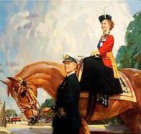 Английская королева пересаживается с Роллс-Ройс на Приус