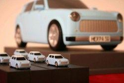 Целиком электрифицированный квалифицированный пример Trabant, доедет до Франкфурта