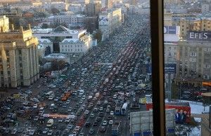 """В """"День без авто"""" в городе Москва хоть шаром покати лишь на парковке мэрии"""