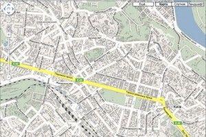 Маршруты по Украине сможет помочь пролагать Google Maps