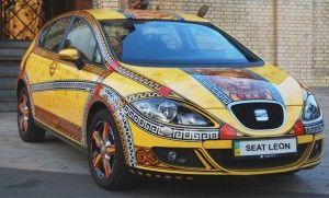Аэрография автомобилей SEAT в автоцентре Авто-Киев