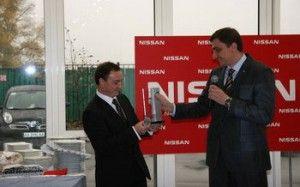 Nissan наградил дилерский центр «Кий Авто»