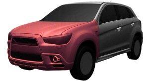 Новый кроссовер Mitsubishi обрел форму