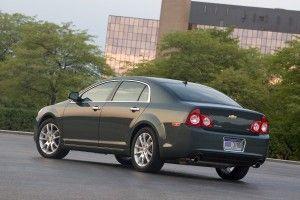 Chevrolet Malibu 2010 получила награду Top Safety Pick