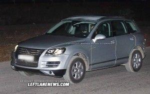 VW Touareg 2011 замечен без камуфляжа