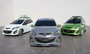 Mazda показала в Лос-Анджелесе три спецверсии Mazda2