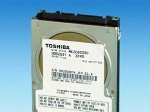 Организация Toshiba спроектировала винчестер для авто