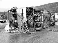 8 человек были убиты, сотни изранены в катастрофе автобуса в Крыму