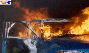 В войсковой ЗИЛ налетел Фольксваген Гольф, обе автомашины сгорели