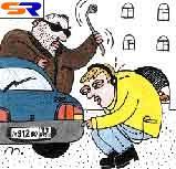 В городе Москва нарушителю закона не удалось украсть автомашину без тормозов