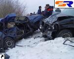 """Во Львовской области внедорожник встретился с авто """"ВАЗ"""": умерло 4 человека. ФОТО."""